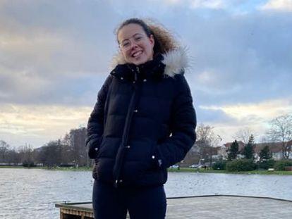 Nerea Gadea, en Haderslev (Dinamarca), donde estudia con el programa Erasmus