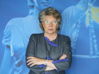 Viviane Reding, vicepresidenta y comisaria de Justicia.