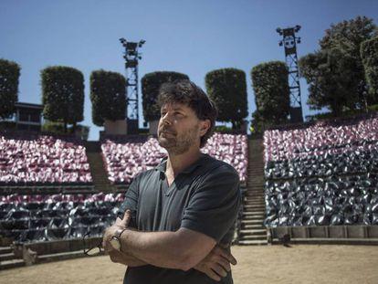 El director Oriol Broggi, ayer en el Teatre Grec de Barcelona.