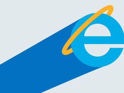 Logotipo del Microsoft Internet Explorer.