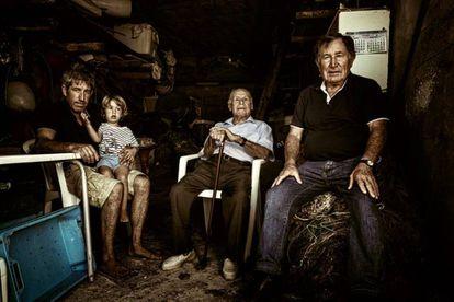 La familia de pescadores Quintals. JOAN F. RIBAS