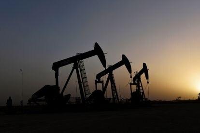 Pozos de petróleo en la localidad texana de Midland, Estados Unidos.
