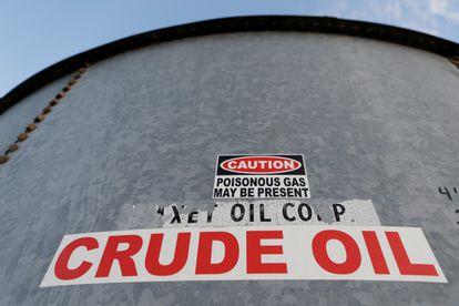 Un tanque de almacenamiento de crudo en Texas (EE UU).