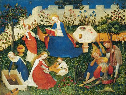 El jardín del paraíso (Paradiesgärtlein), cuadro de un pintor anónimo del siglo XV.