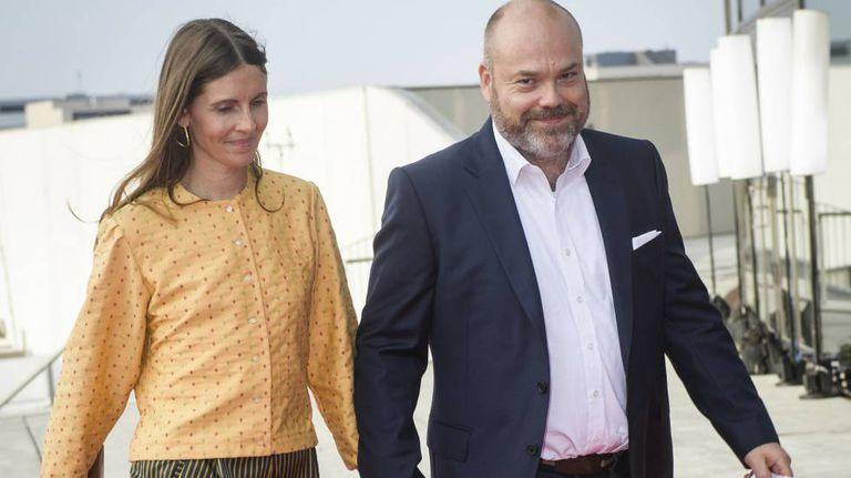 Anders Holch Povlsen y su esposa Anne.