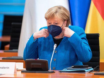 La canciller alemana, Angela Merkel, el 31 de mayo de 2021 en Berlín.