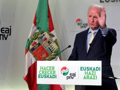 El expresidente del Parlamento Vasco por el PNV, Juan María Atutxa, en una imagen de archivo.