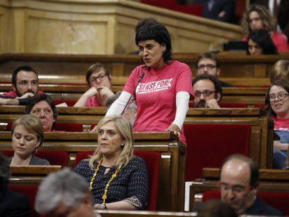 Anna Gabriel en el Parlament.