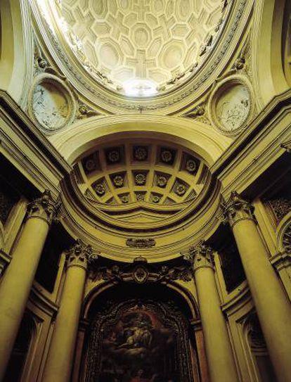 Iglesia de San Carlo alle Quattro Fontane, de Borromini.