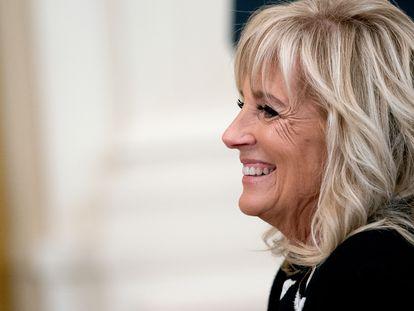 La primera dama de EE UU, Jill Biden, en una ceremonia en la Casa Blanca el 21 de mayo.