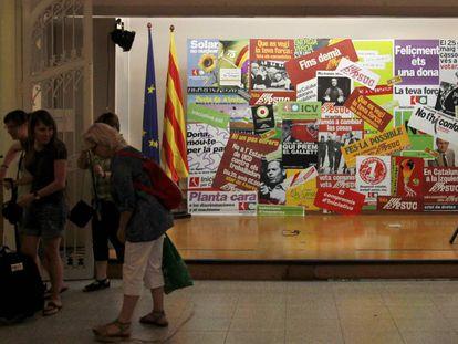El local de Iniciativa de la calle Ciutat, que fue Sala del Comité Central del PSUC.