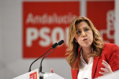 La presidenta de la Junta y secretaria general del PSOE andaluz, Susana Díaz.