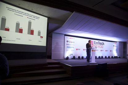 El secretario de Hacienda, este miércoles, en el EmTech México