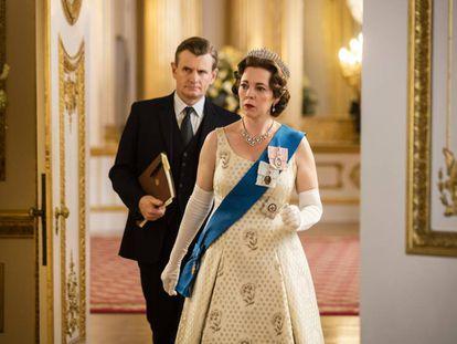 Olivia Colman como la reina Isabel II en la tercera temporada de 'The Crown'.