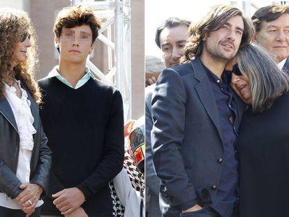 Belinda Alonso con su hijo Hugo y Pepa Aguilar, con su hijo Gelete.