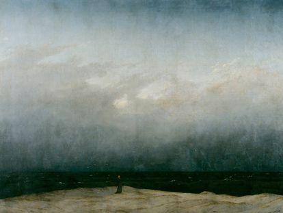'Monje a la orilla del mar', de Caspar David Friedrich (entre 1808 y 1810).