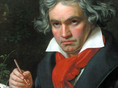 Retrato de Beethoven, pintado por J. Kriehuber.