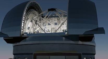 Ilustración del telescopio gigante europeo E-ELT.
