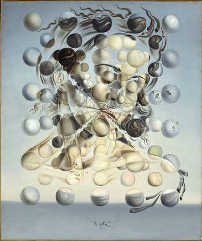 Galatea de las esferas (1952), unas de las obras más representativas  de la época místico-nuclear de Salvador Dalí.