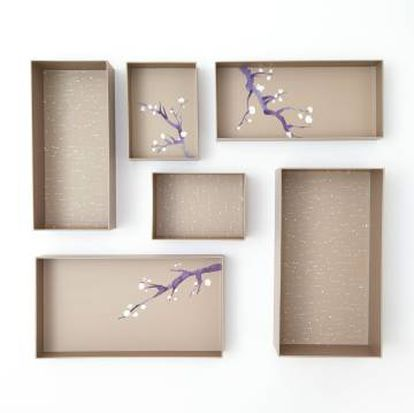 Un set de cajas Hikidashi Box, diseñadas por Marie Kondo.