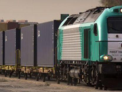 Un tren procedente de China llega a Madrid.
