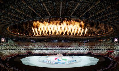 La ceremonia de inauguración de los Juegos Paralímpicos este martes en el estadio olímpico de Tokio.