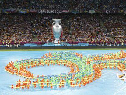 Ceremonia celebrada antes de la final de la Euro 2012.