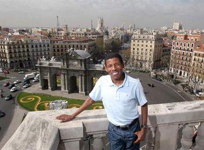Haile Gebrselassie, ayer en Madrid.