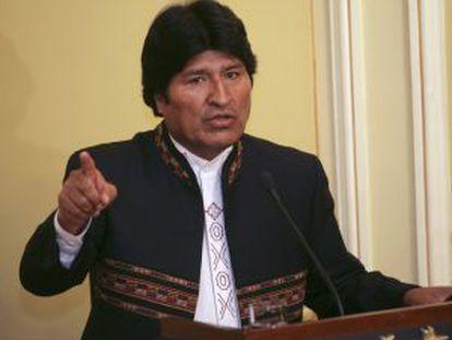 El presidente Evo Morales, el miércoles en La Paz.