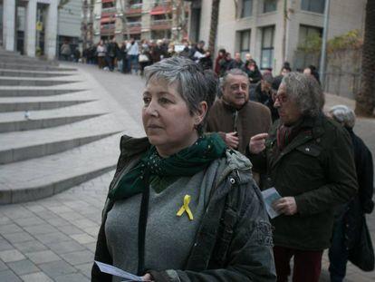 Jornada electoral en Barcelona, en el barrio de Sants.