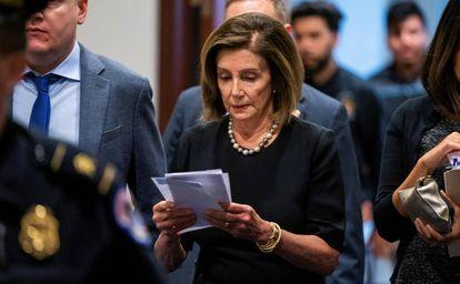 Nancy Pelosi, el miércoles en el Congreso.
