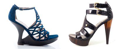 Algunas propuestas de calzado para  este verano.  De izquierda a derecha,  sandalia de Pura López; otra de Stuart eitzman.