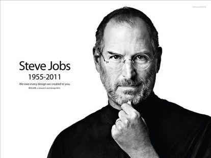 Página de Apple el 5 de octubre de 2011.