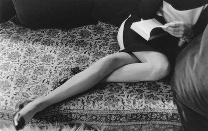 Martine Franck, segunda esposa del artista, fotografiada en 1967.