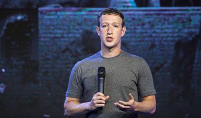 Mark Zuckerberg en una conferencia en India en octubre.