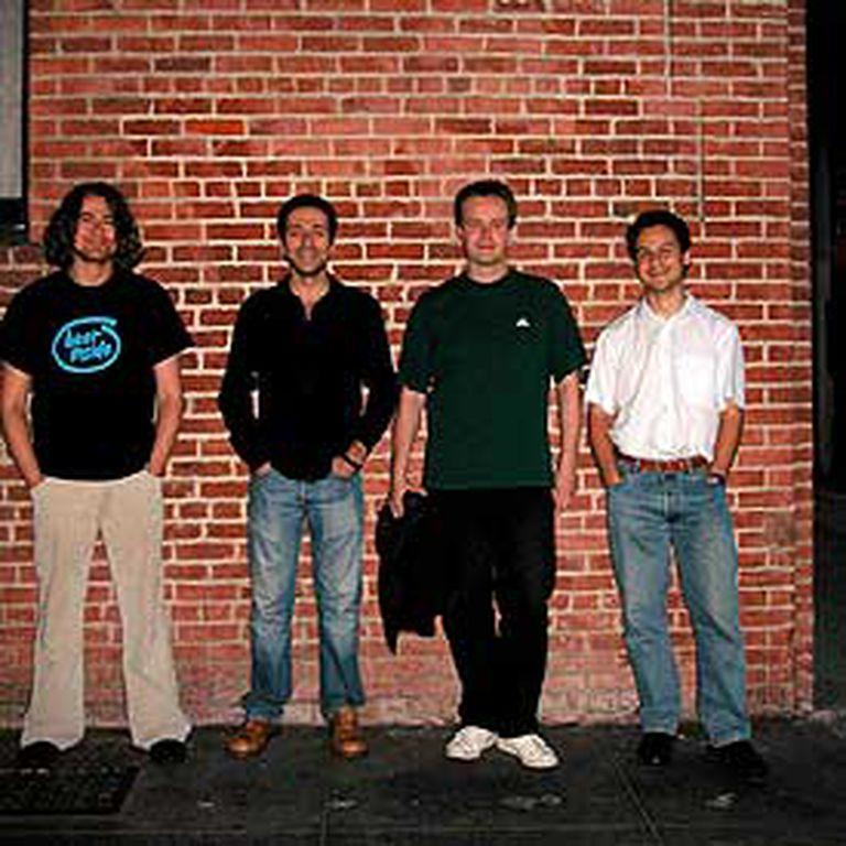 Manolo Soler, Alejandro Gil, Eduardo Bustillo y David Caeiro, en San Francisco.