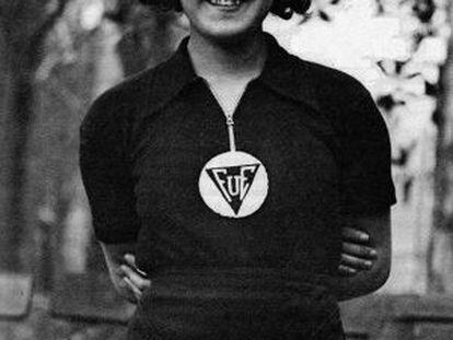Carmen Parga, en los años treinta antes del estallido de la Guerra Civil.