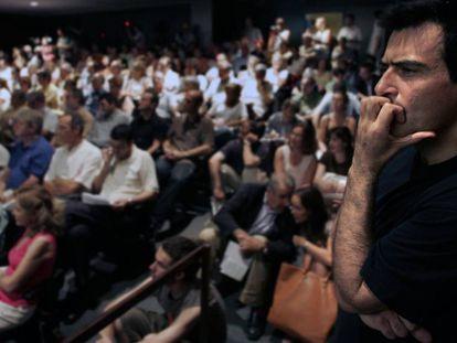 Arcadi Espada, en el acto de fundación de Ciudadanos, en 2005.