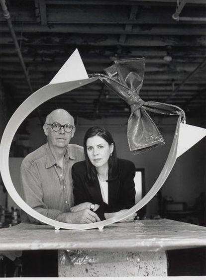 Coosje van Bruggen y su marido, Claes Oldenburg.