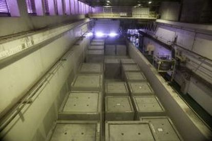 Zona de acondicionamiento de los residuos en contenedores.