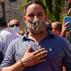 DVD1057 (13/06/2021) Abascal en la manifestaci—n contra los indultos del gobierno a los l'deres  independentistas catalanes en la Plaza de Col—n en Madrid. ANDREA COMAS