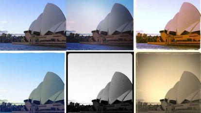 Una misma foto con seis filtros distintos. La de arriba a la derecha es la que obtuvo más aceptación.