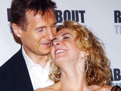 Natasha Richardson y Liam Neeson durante el estreno de 'Un tranvía llamado deseo' en Broadway, Nueva York, en 2005.