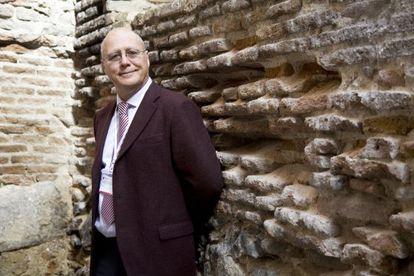 Guy Haug,este lunes, en la sede de la UNED en Lavapies (Madrid).