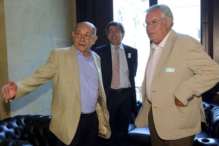 Fèlix Millet, el abogado Jordi Pina y Jordi Montull, en el Parlamento de Cataluña en una imagen de archivo.