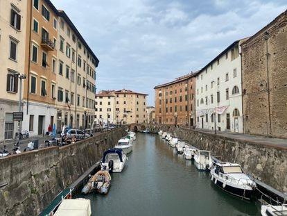 Imagen de los canales de Livorno, la semana pasada en la localidad de la Toscana.