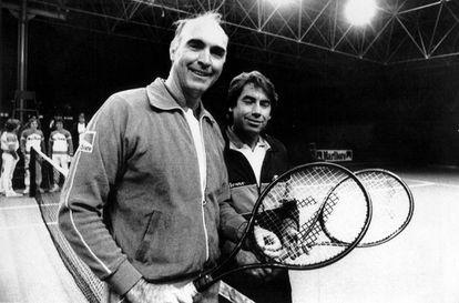 Gimeno y Santana posan en Barcelona, en 1983.