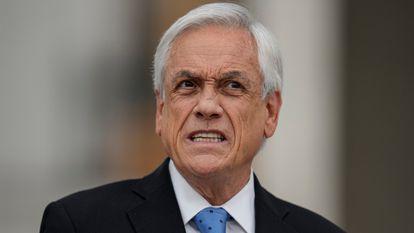 El presidente de Chile, Sebastián Piñera, ofrece una rueda de prensa el pasado lunes en La Moneda.