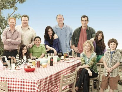 El reparto de 'Modern family' donde Sofía Vergara encarna a Gloria Delgado, la explosiva esposa de Jay Pritchett (Ed O'Neill)