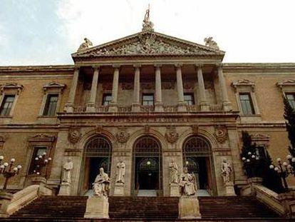 La Biblioteca Nacional de Madrid.